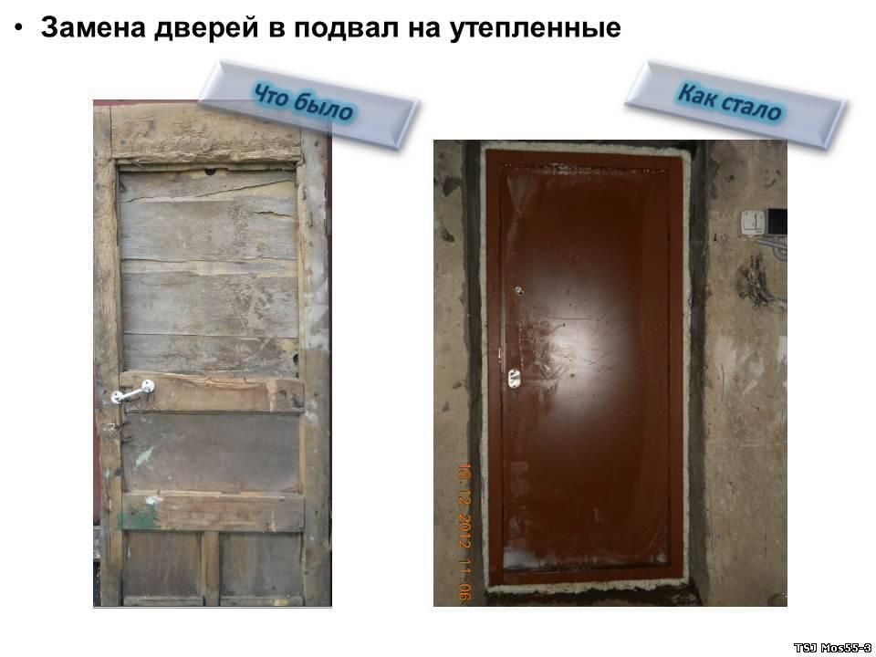 купить металлическую дверь для подвала простую